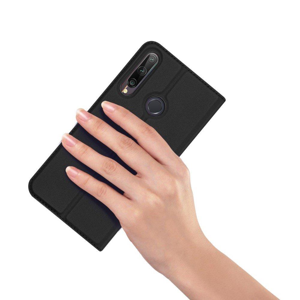 Dux Ducis чехол книжка для Huawei P40 lite E с магнитом и отделением для карты - Черный