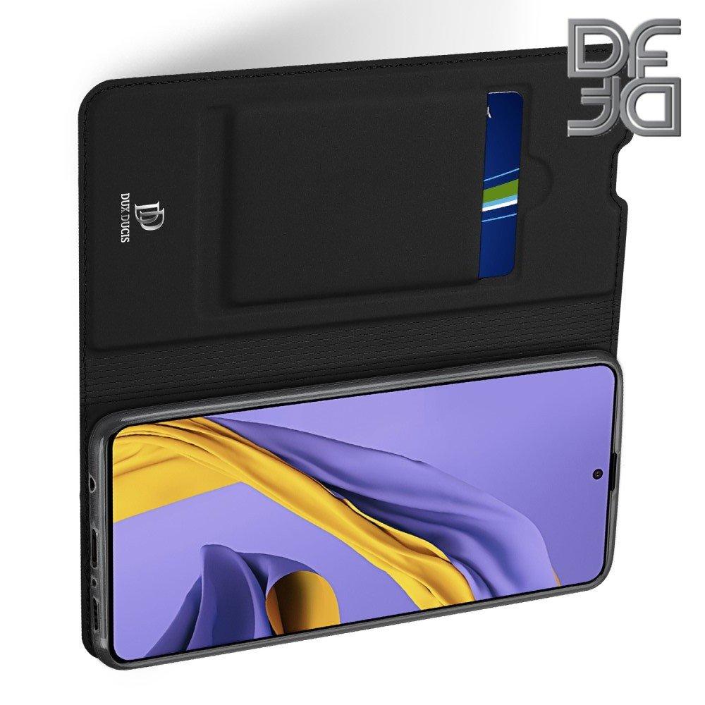 Dux Ducis чехол книжка для Samsung Galaxy A51 с магнитом и отделением для карты - Черный