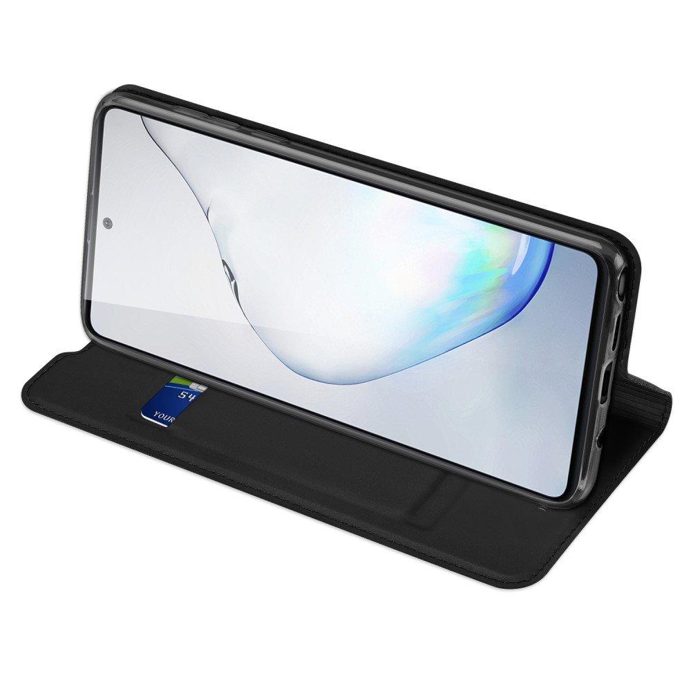 Dux Ducis чехол книжка для Samsung Galaxy Note 10 Lite с магнитом и отделением для карты - Черный