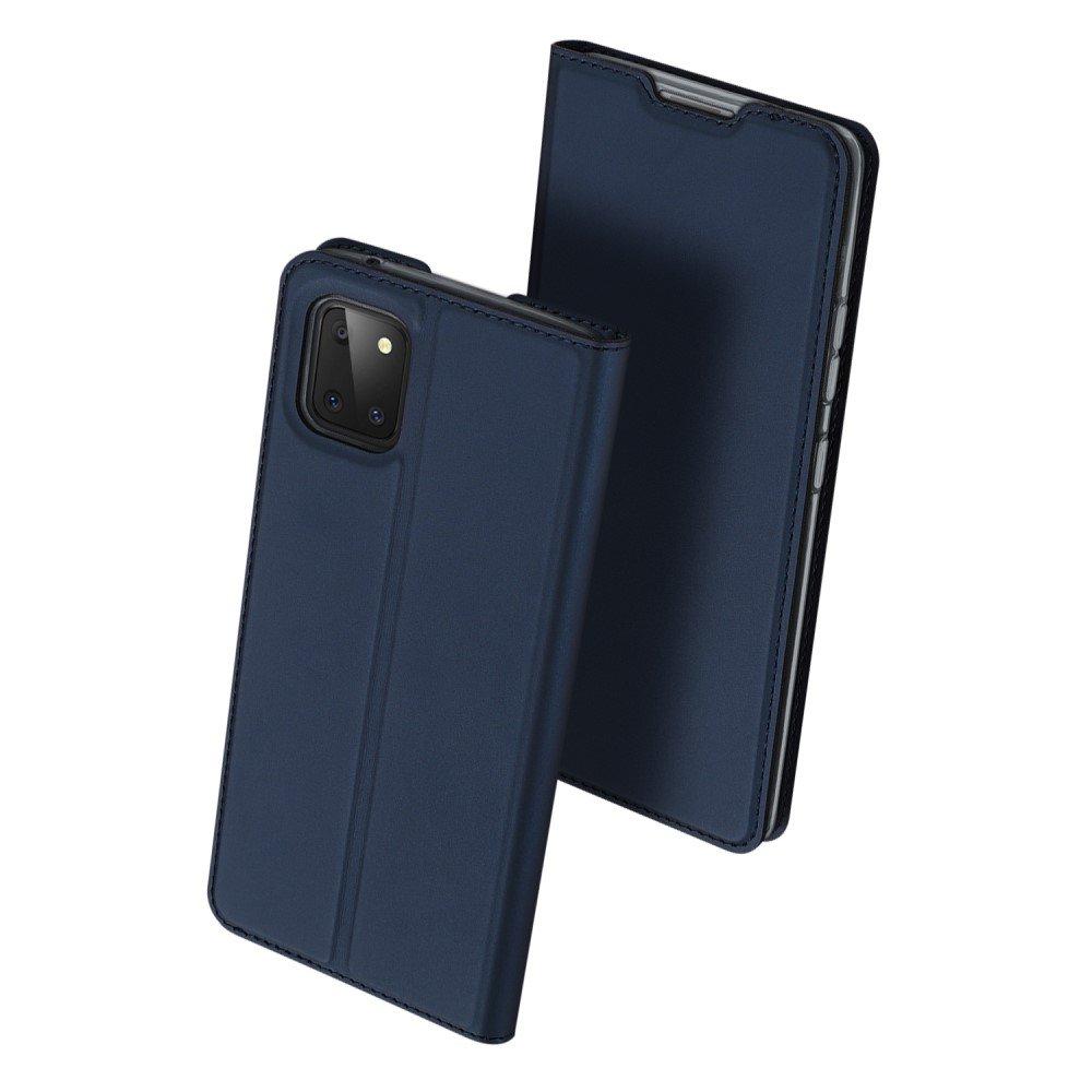 Dux Ducis чехол книжка для Samsung Galaxy Note 10 Lite с магнитом и отделением для карты - Синий