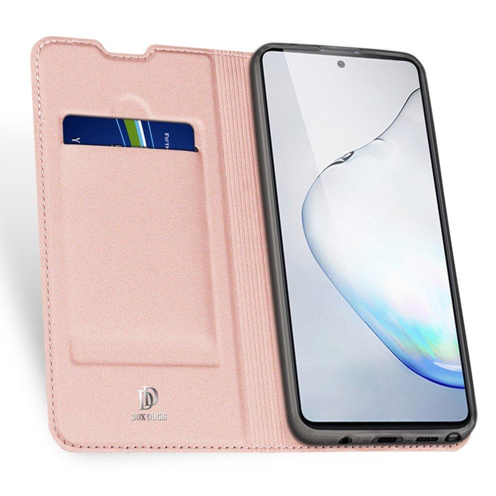 Dux Ducis чехол книжка для Samsung Galaxy Note 10 Lite с магнитом и отделением для карты - Светло-Розовый