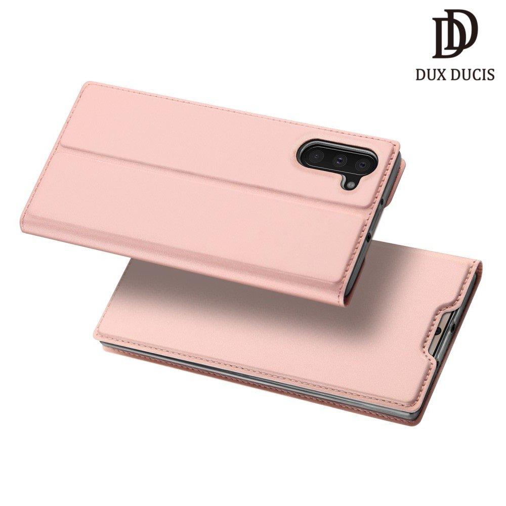 Dux Ducis чехол книжка для Samsung Galaxy Note 10 с отделением для карты - Розовое Золото