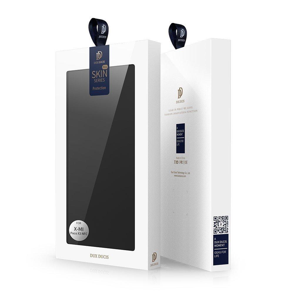 Dux Ducis чехол книжка для Xiaomi Poco X3 NFC с магнитом и отделением для карты - Черный