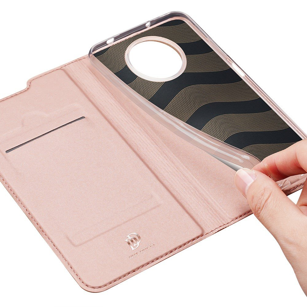 Dux Ducis чехол книжка для Xiaomi Poco X3 NFC с магнитом и отделением для карты - Розовый