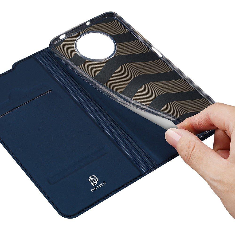 Dux Ducis чехол книжка для Xiaomi Poco X3 NFC с магнитом и отделением для карты - Синий