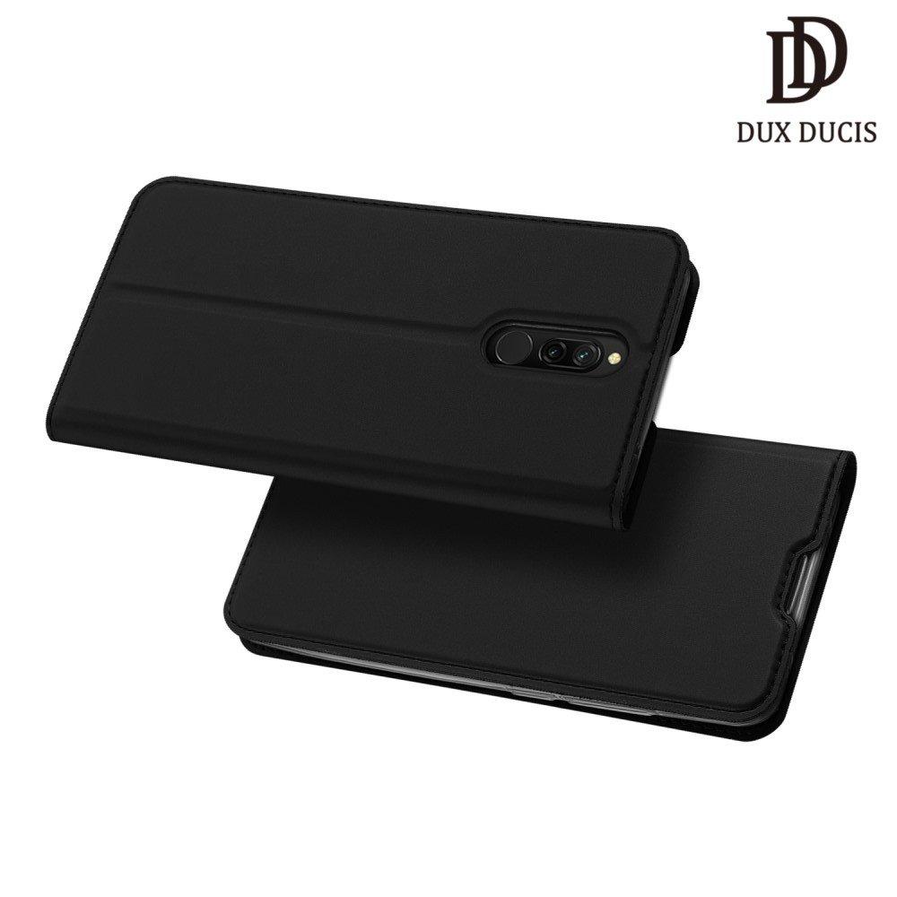 Dux Ducis чехол книжка для Xiaomi Redmi 8 с магнитом и отделением для карты - Черный