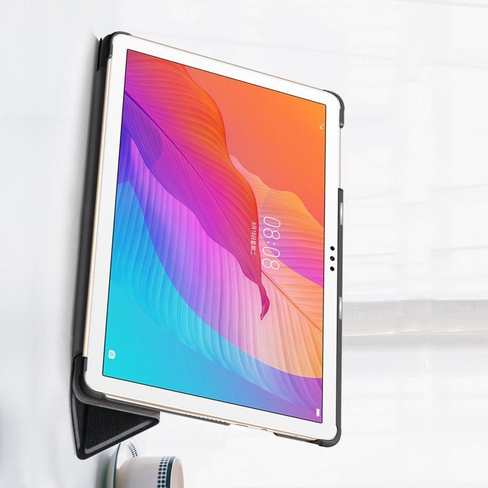 Двухсторонний чехол книжка для Huawei MatePad T10 / T10s с подставкой - Черный