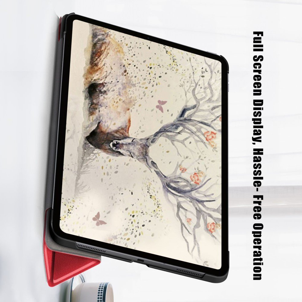 Двухсторонний чехол книжка для iPad Air 2020 с подставкой - Красный