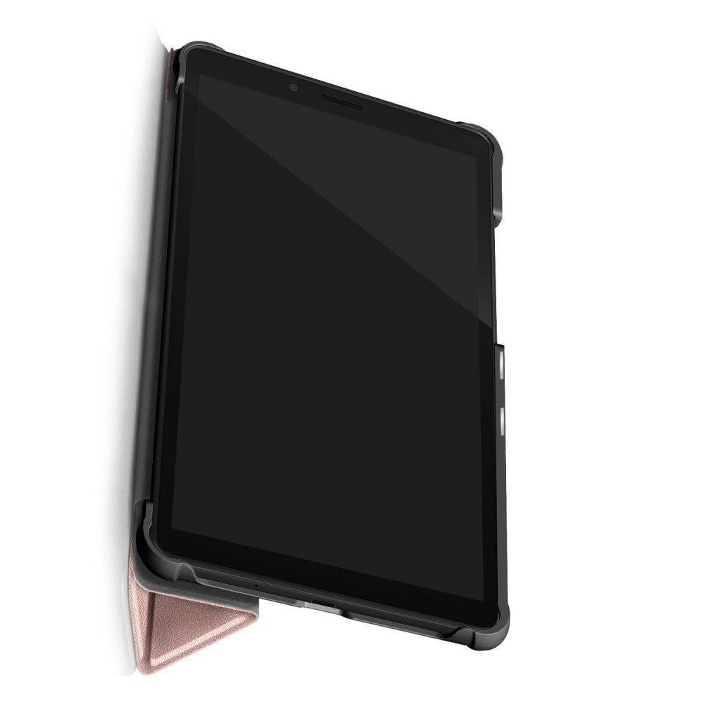 Двухсторонний чехол книжка для Lenovo Tab M7 TB-7305i / TB-7305X / TB-7305F с подставкой - Розовое Золото