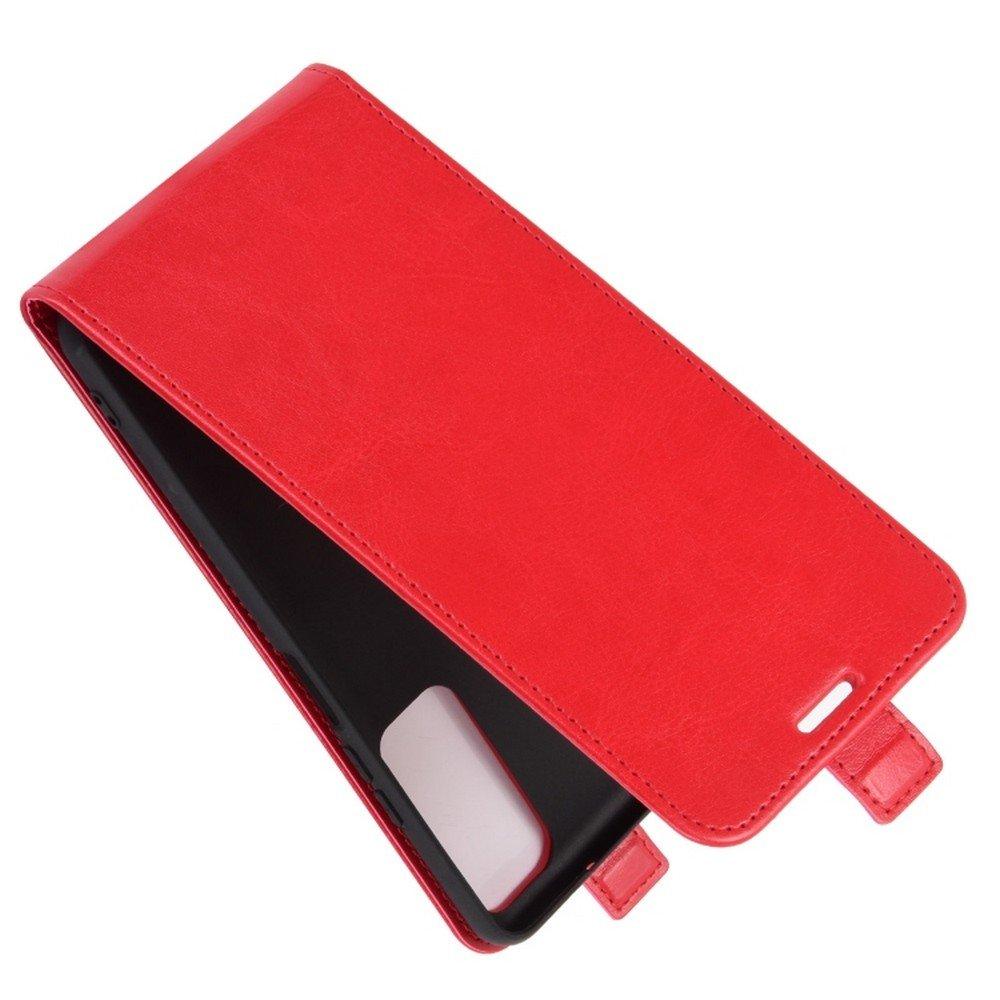 Флип чехол книжка вертикальная для Huawei P Smart 2021 - Красный