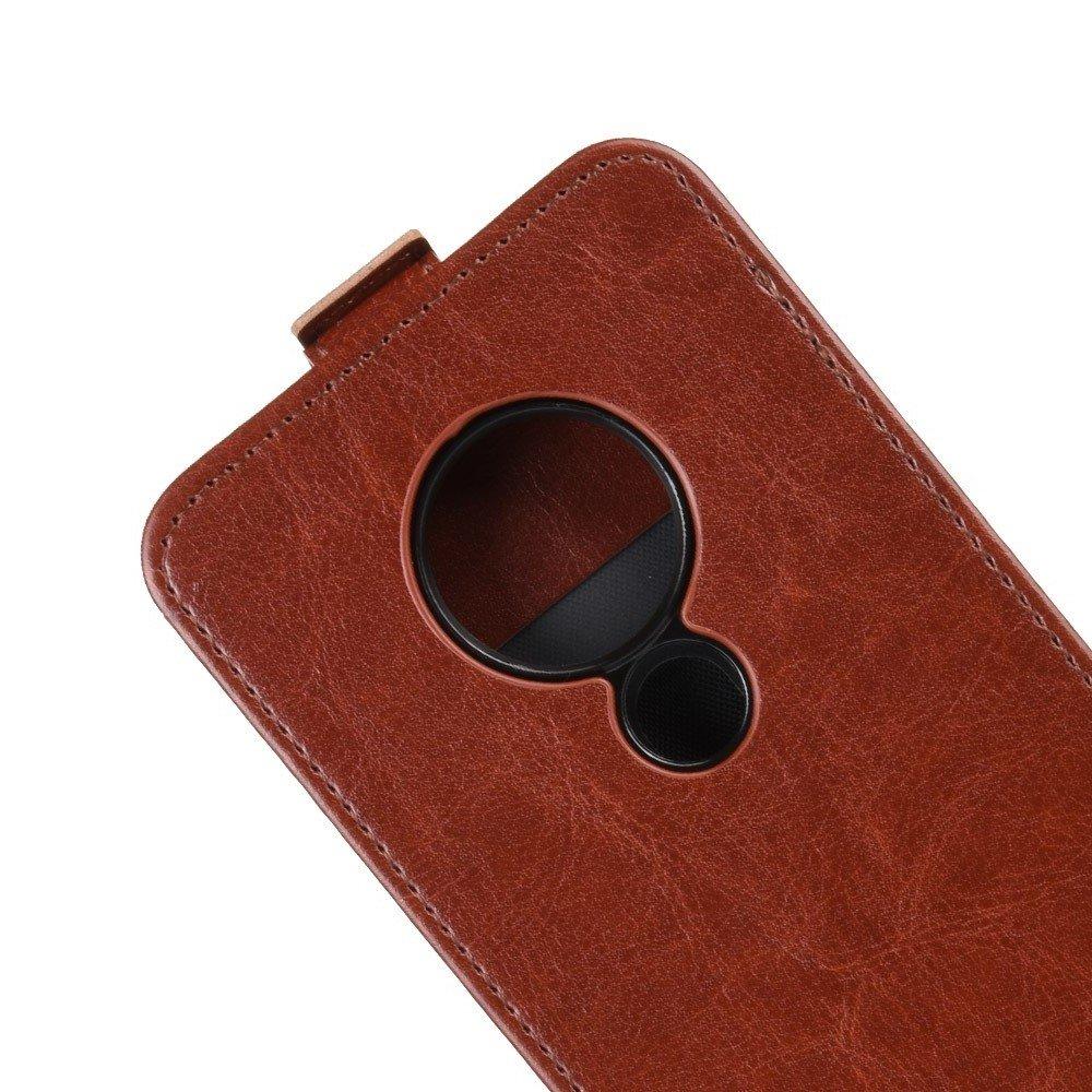 Флип чехол книжка вертикальная для Nokia 6.2 / 7.2 - Коричневый