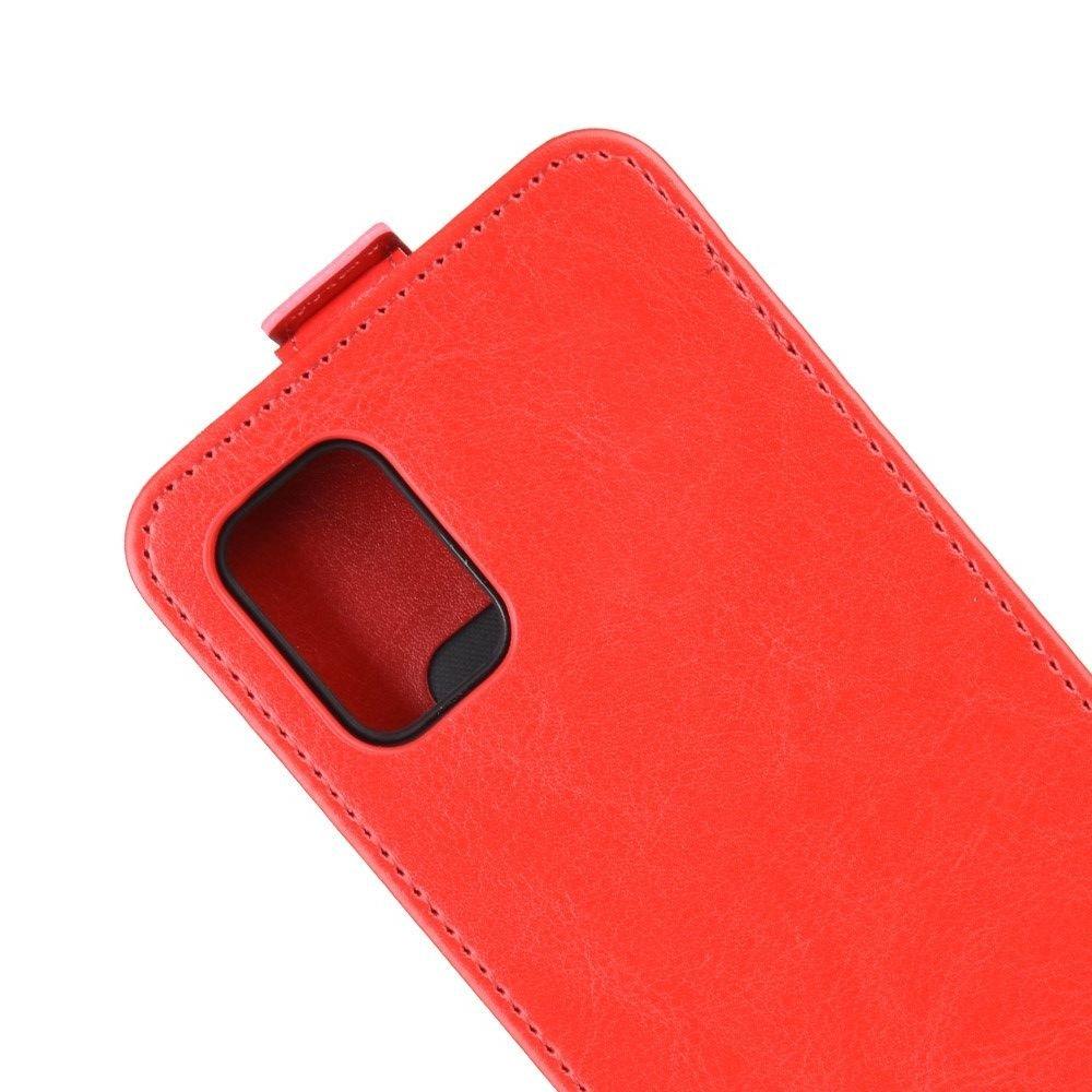 Флип чехол книжка вертикальная для Samsung Galaxy A71 - Красный