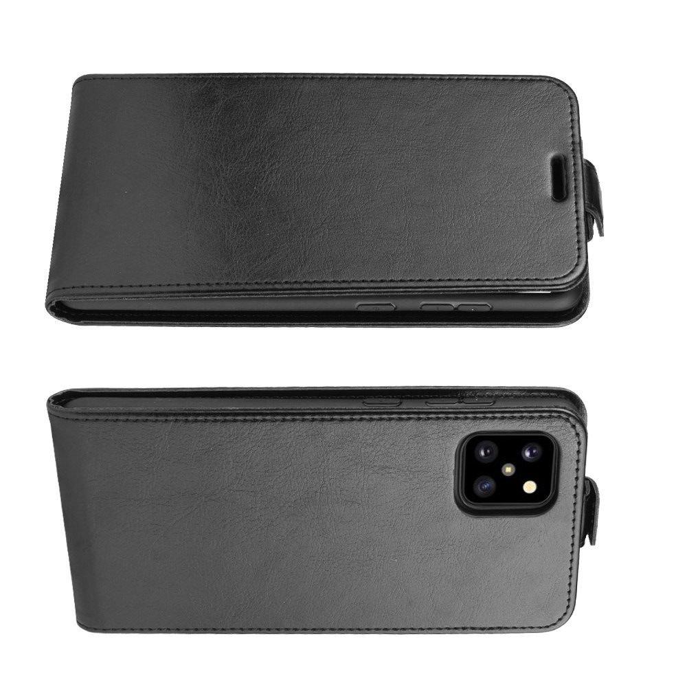 Флип чехол книжка вертикальная для Samsung Galaxy Note 10 Lite - Черный