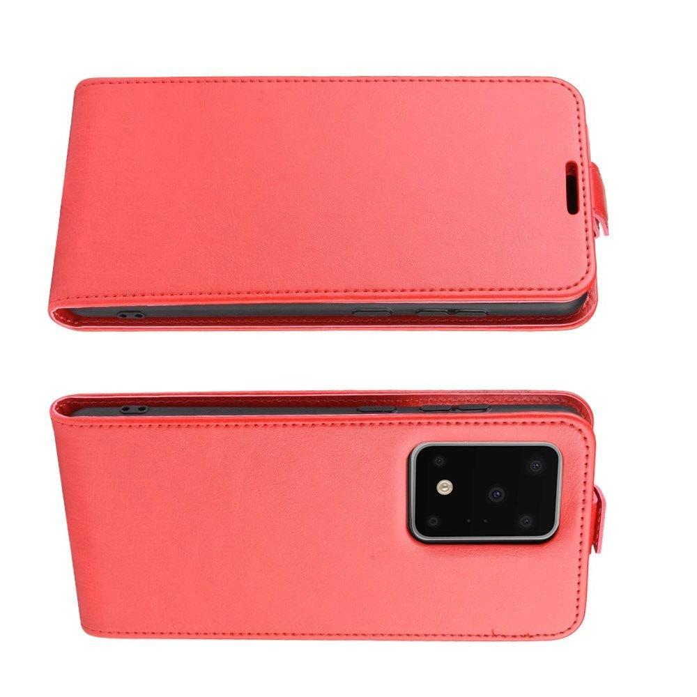 Флип чехол книжка вертикальная для Samsung Galaxy S20 Ultra - Красный