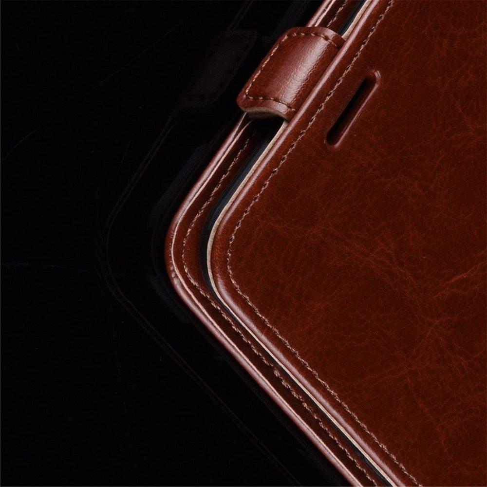 Флип чехол книжка вертикальная для Samsung Galaxy S21 - Коричневый
