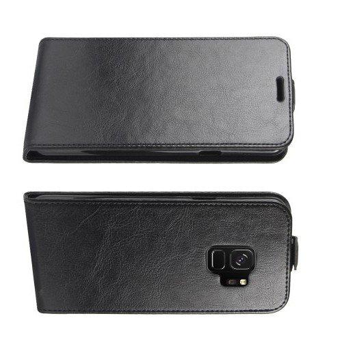 Флип чехол книжка вертикальная для Samsung Galaxy S9 - Черный