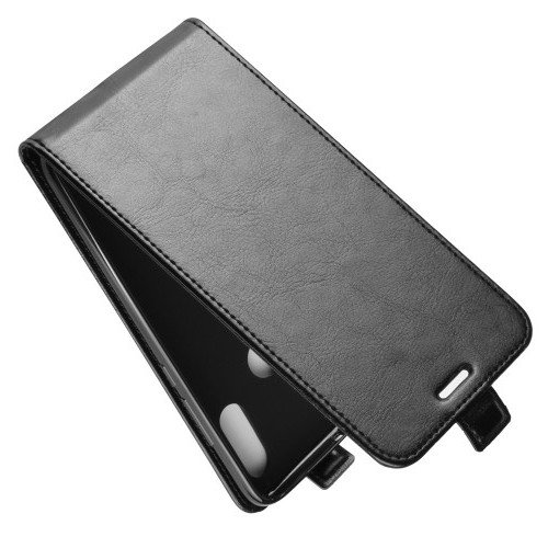 Флип чехол книжка вертикальная для Xiaomi Redmi 7 - Черный