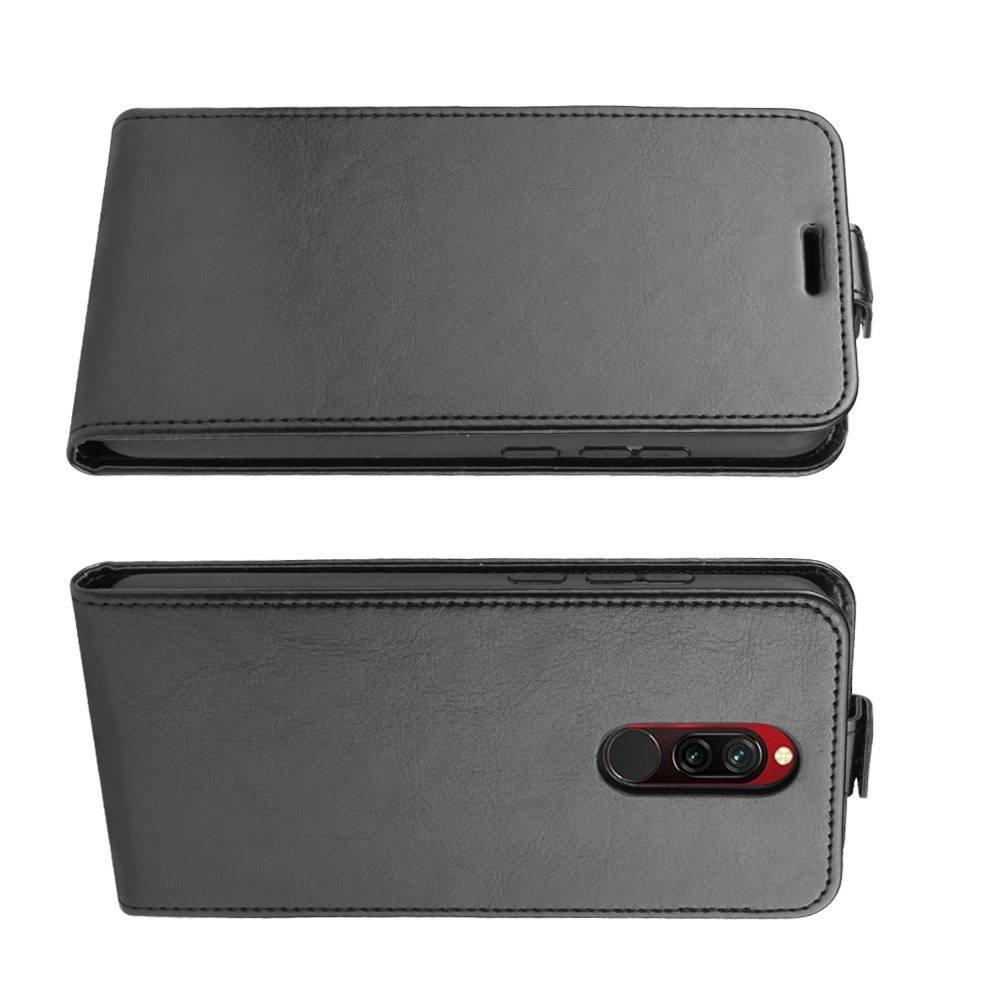 Флип чехол книжка вертикальная для Xiaomi Redmi 8 - Черный