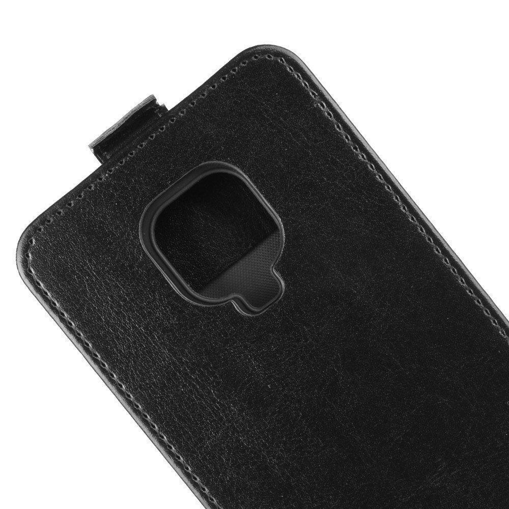 Флип чехол книжка вертикальная для Xiaomi Redmi Note 9 Pro (9S,9 Pro Max) / Pro Max) - Черный