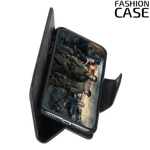 Flip Wallet чехол книжка для Samsung Galaxy J4 2018 SM-J400F - Черный