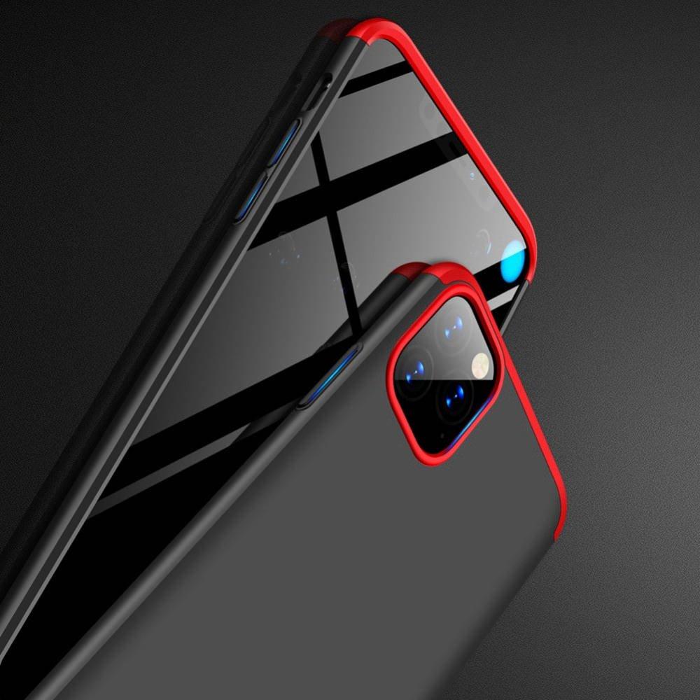 GKK 360 Пластиковый чехол с защитой дисплея для iPhone 11 Pro Max Красный / Черный