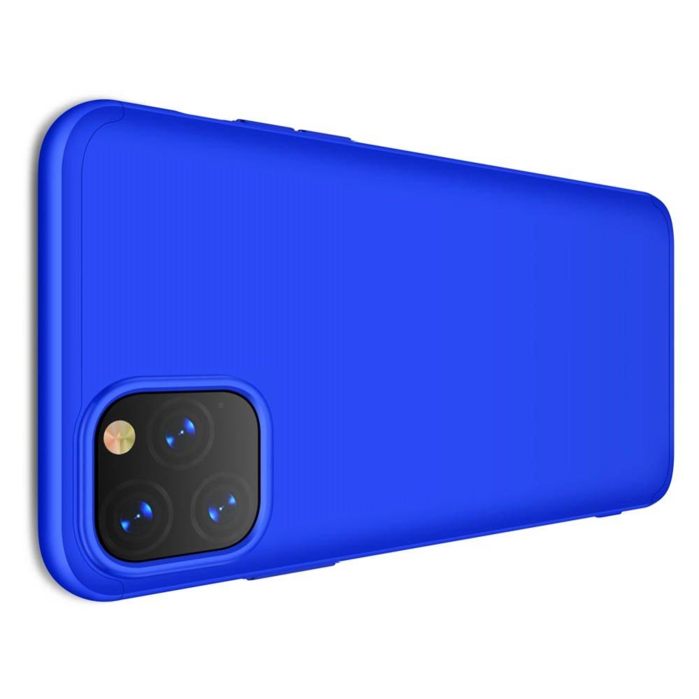 GKK 360 Пластиковый чехол с защитой дисплея для iPhone 11 Pro Max Синий