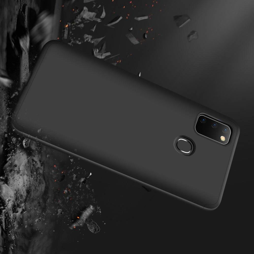 GKK 360 Пластиковый чехол с защитой дисплея для Samsung Galaxy M30s Черный