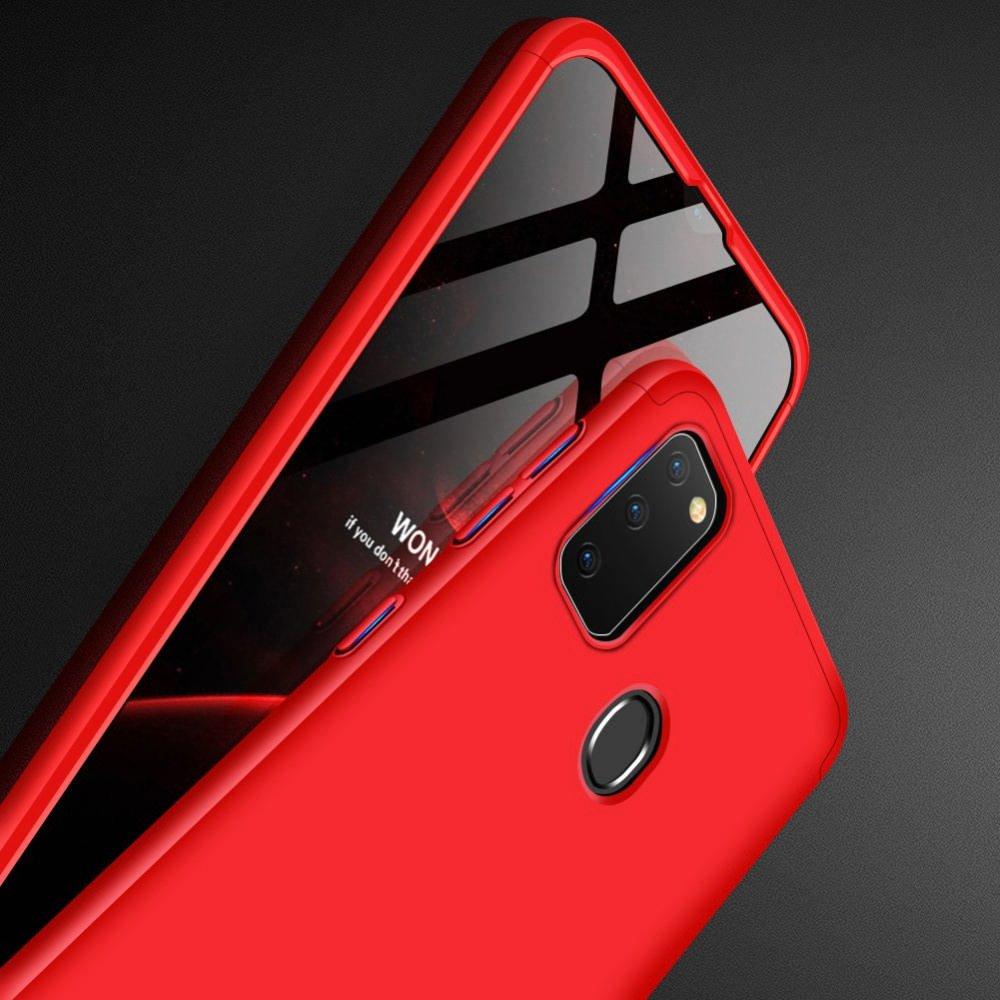 GKK 360 Пластиковый чехол с защитой дисплея для Samsung Galaxy M30s Красный