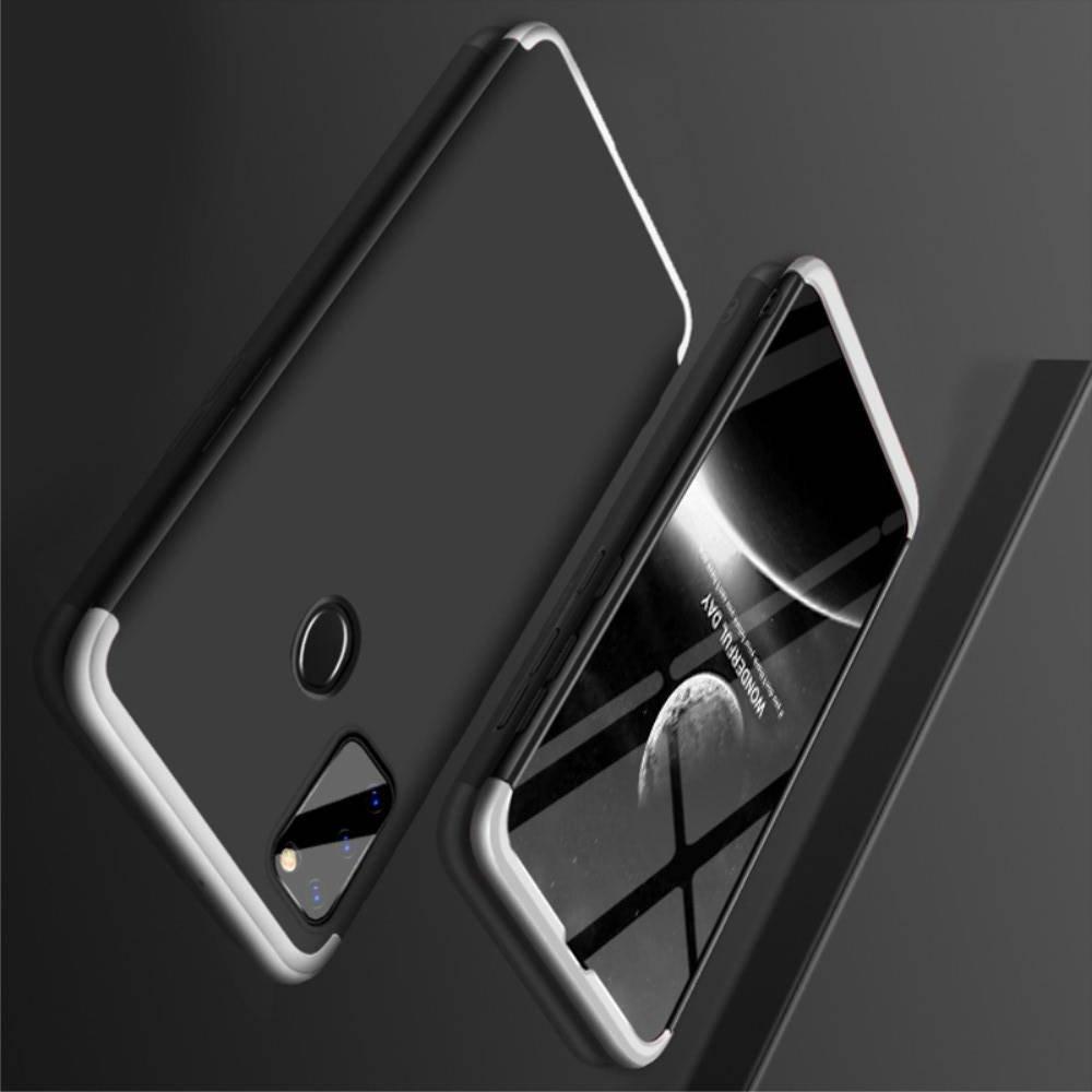 GKK 360 Пластиковый чехол с защитой дисплея для Samsung Galaxy M30s Серебряный / Черный
