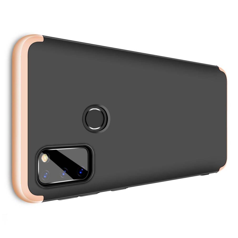 GKK 360 Пластиковый чехол с защитой дисплея для Samsung Galaxy M30s Золотой / Черный