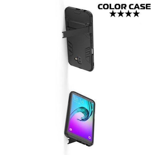 Hybrid Armor Ударопрочный чехол для Samsung Galaxy J6 Plus с подставкой - Черный