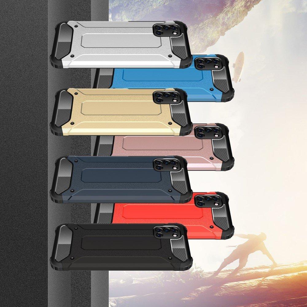 Hybrid двухкомпонентный противоударный чехол для Samsung Galaxy A31 - Черный