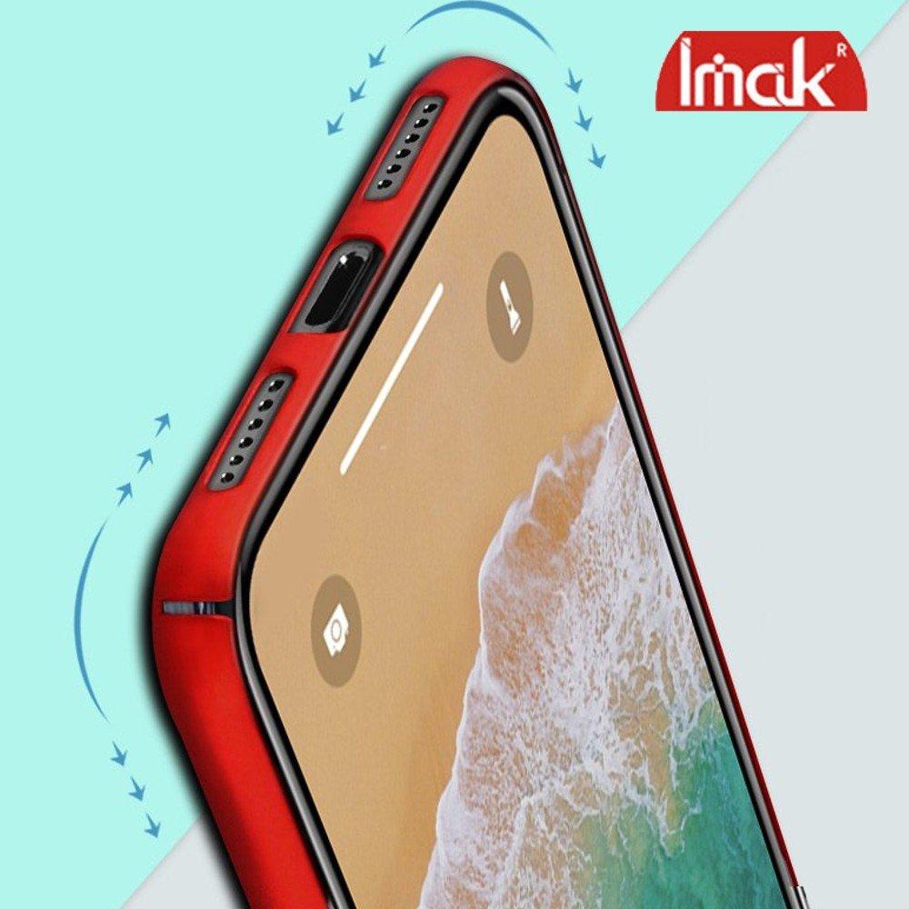 Imak Jazz Матовая пластиковая Кейс накладка для ASUS ZenFone Max Pro M1 ZB602KL / ZB601KL Красный Ультратонкий с защитной кнопок и камеры