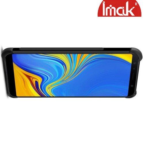 IMAK Shockproof силиконовый защитный чехол для Samsung Galaxy A7 2018 SM-A750F черный и защитная пленка