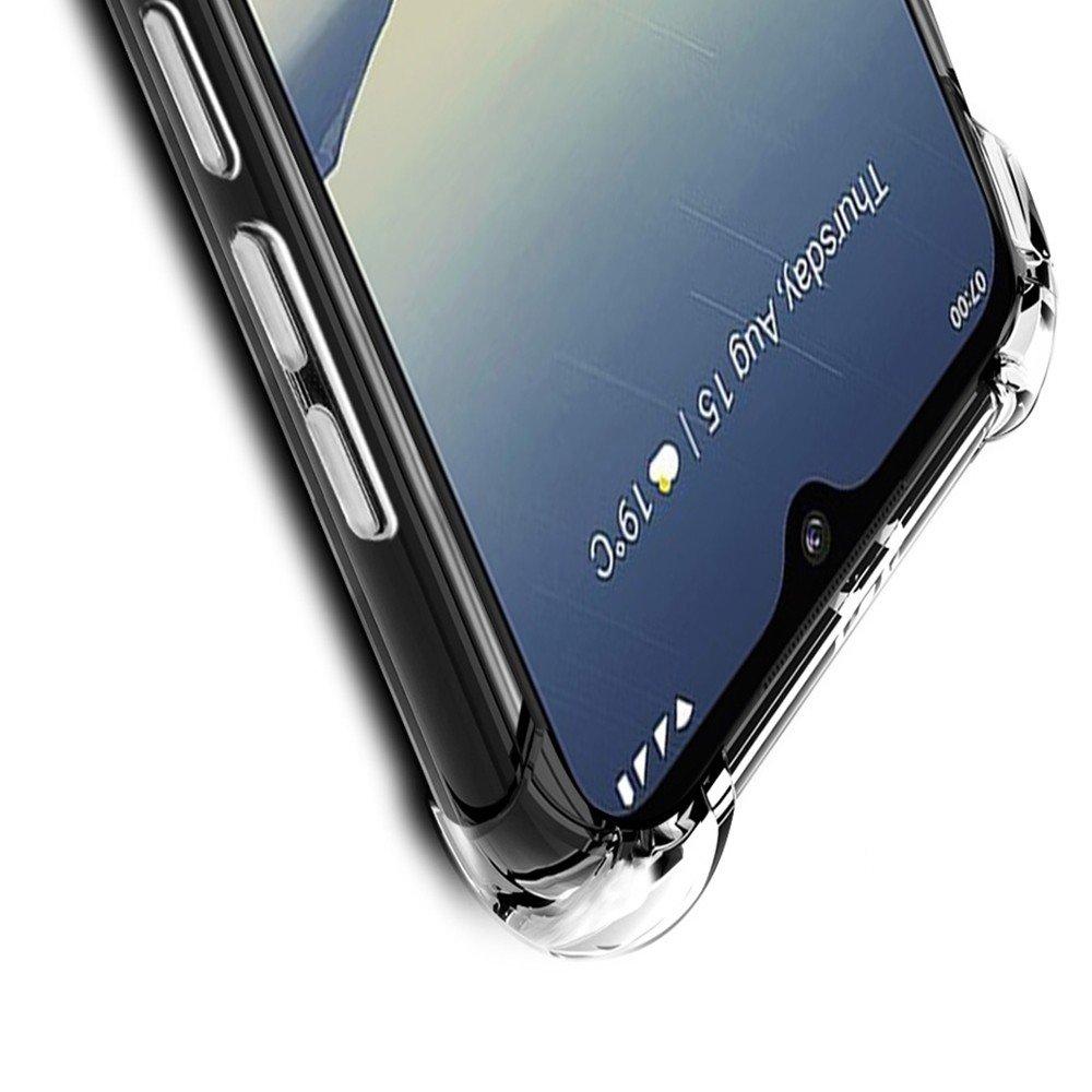 IMAK Shockproof силиконовый защитный чехол для Xiaomi Redmi 8 прозрачный и защитная пленка