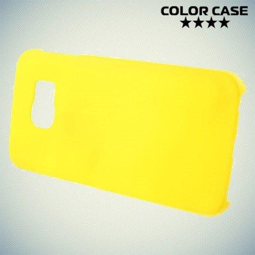 Кейс накладка для Samsung Galaxy S6 Edge - желтый
