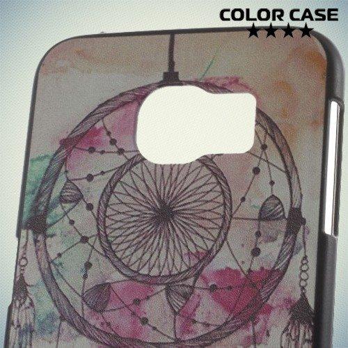 Кейс накладка для Samsung Galaxy S6 с орнаментом Ловец снов