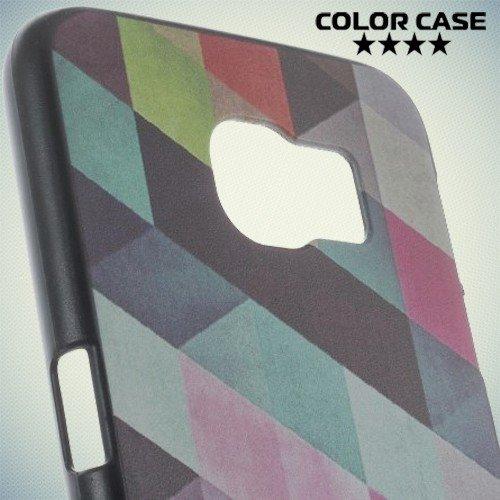 Кейс накладка для Samsung Galaxy S6 с орнаментом Яркая геометрия