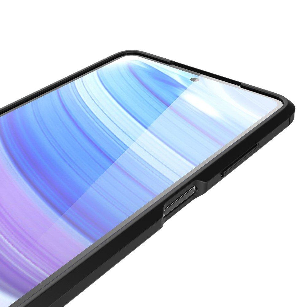 Leather Litchi силиконовый чехол накладка для Xiaomi Poco X3 NFC - Черный