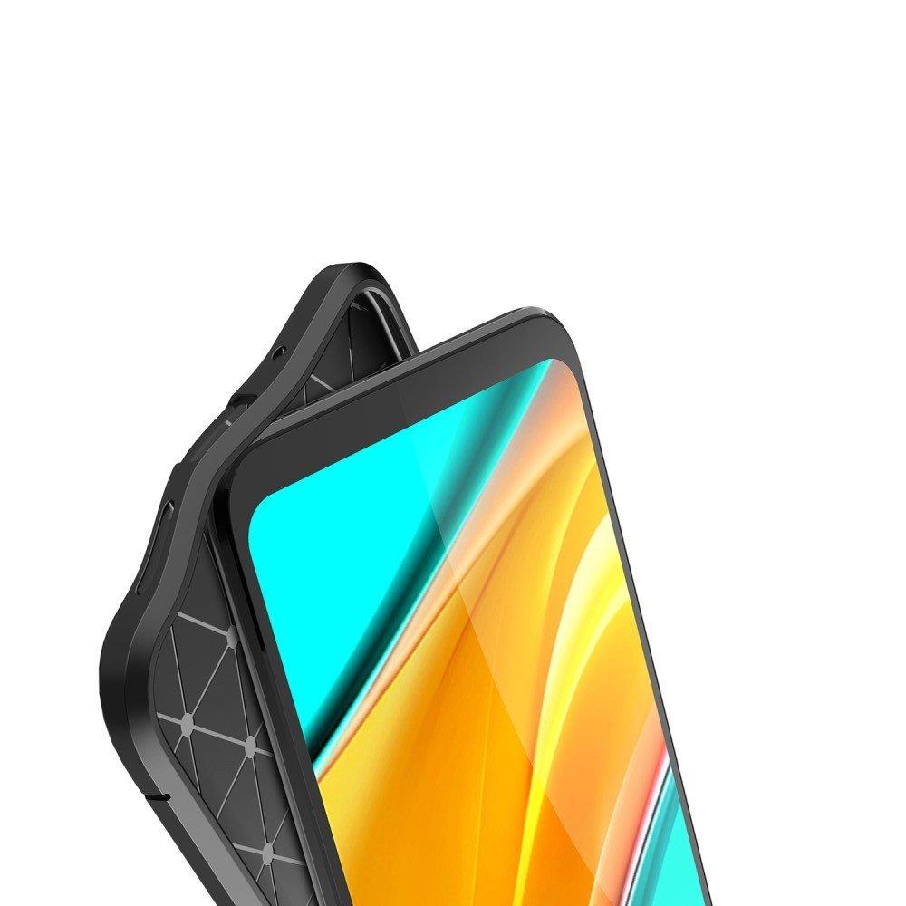 Leather Litchi силиконовый чехол накладка для Xiaomi Redmi 9C - Черный