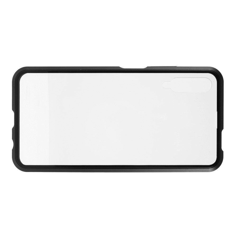 Магнитный Стеклянный Чехол с Металлическим Бампером для Huawei Honor 9X / 9X Premium Черный