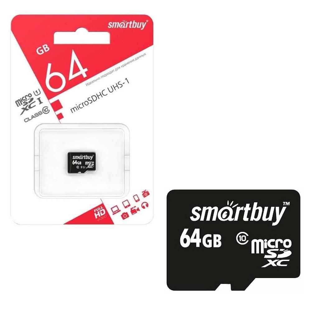Карта памяти microSDXC SmartBuy 64 Gb Class 10