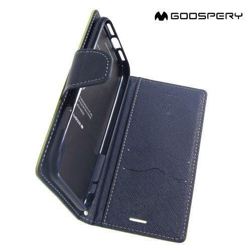 Mercury Goospery Горизонтальный чехол книжка для iPhone XR - Зеленый