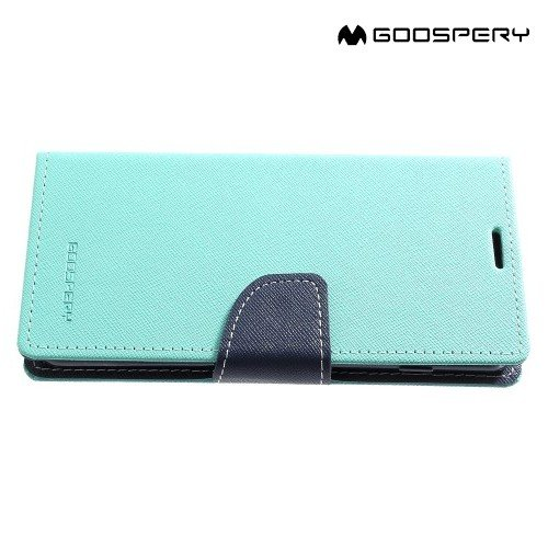 Mercury Goospery Горизонтальный чехол книжка для Samsung Galaxy S10 - Бирюзовый