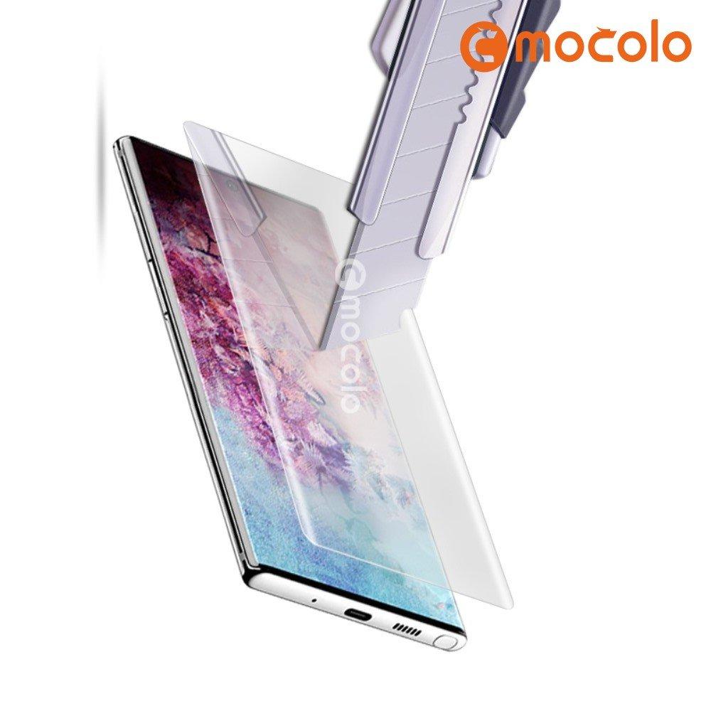 MOCOLO Изогнутое защитное 3D стекло для Samsung Galaxy Note 10+ - Прозрачное