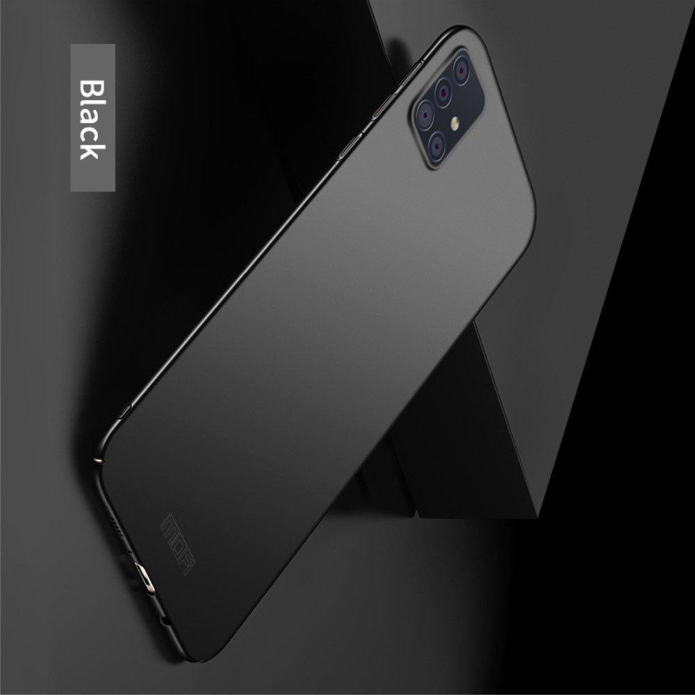 Mofi Slim Armor Матовый жесткий пластиковый чехол для Samsung Galaxy A71 - Черный