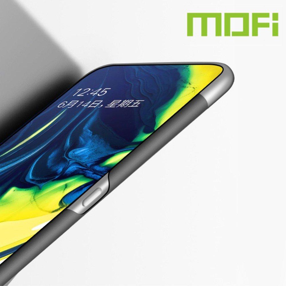 Mofi Slim Armor Матовый жесткий пластиковый чехол для Samsung Galaxy A80 / A90 - Черный