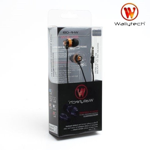 Наушники гарнитура с микрофоном Wallytech WHF-081 Металлические Золотые