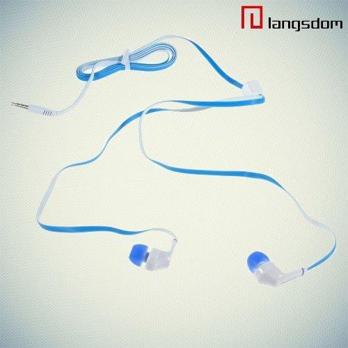 Наушники с микрофоном Langsdom JD88 - Синие