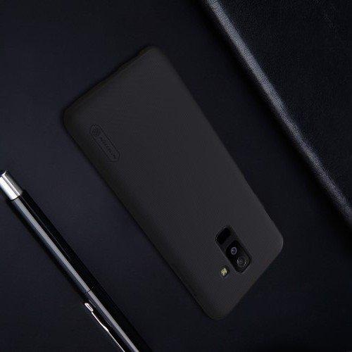 NILLKIN Super Frosted Shield Клип кейс накладка для Samsung Galaxy A6 Plus 2018 - Черный